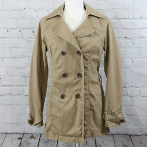 SONOMA Life + Style Tan Lightweight Trench Jacket